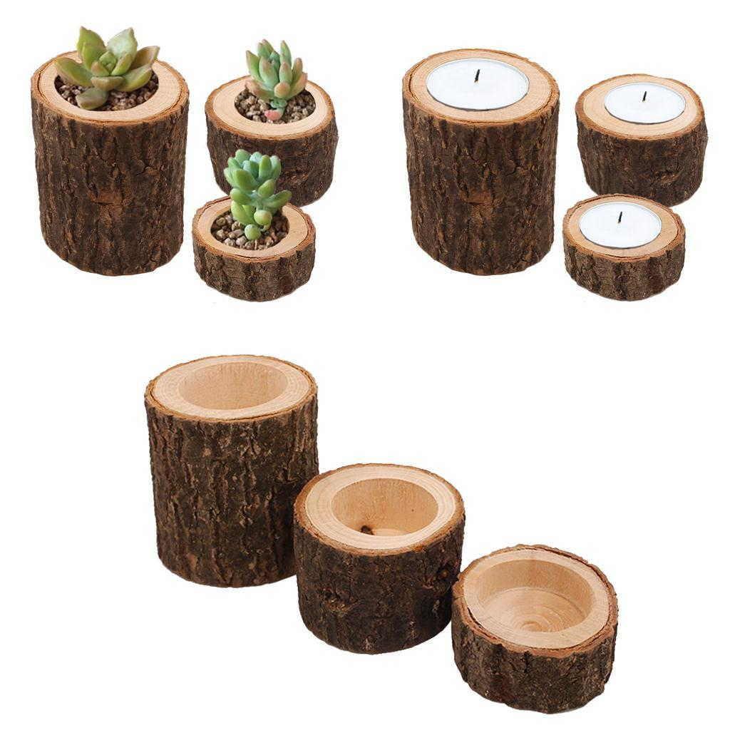 Wooden-Branch-Candle-Holder-Votive-Tealight-Holder-for-Home-Wedding-Garden-Decor thumbnail 3