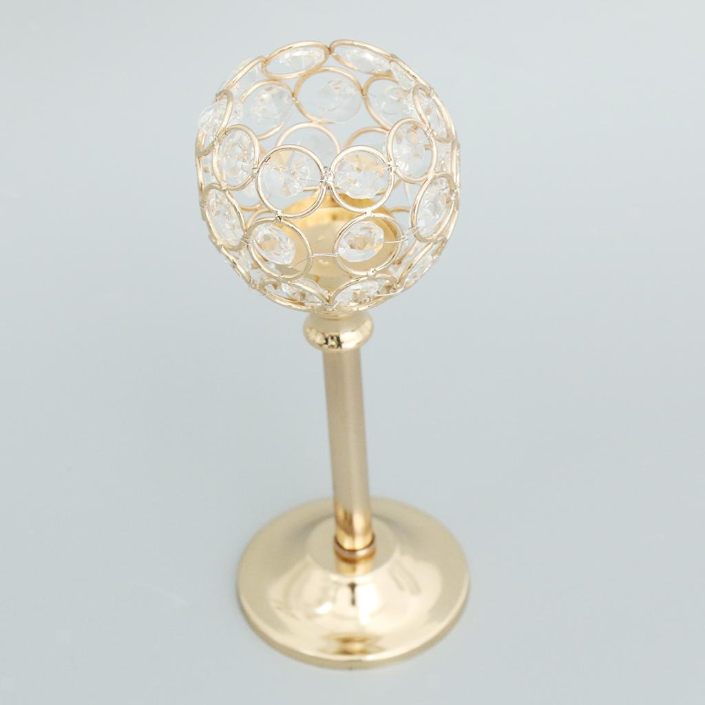 CRYSTAL-TABLE-STAND-CANDLE-HOLDER-CANDLESTICK-WEDDING-HOLIDAYS-CHRISTMAS-EVENTS thumbnail 51