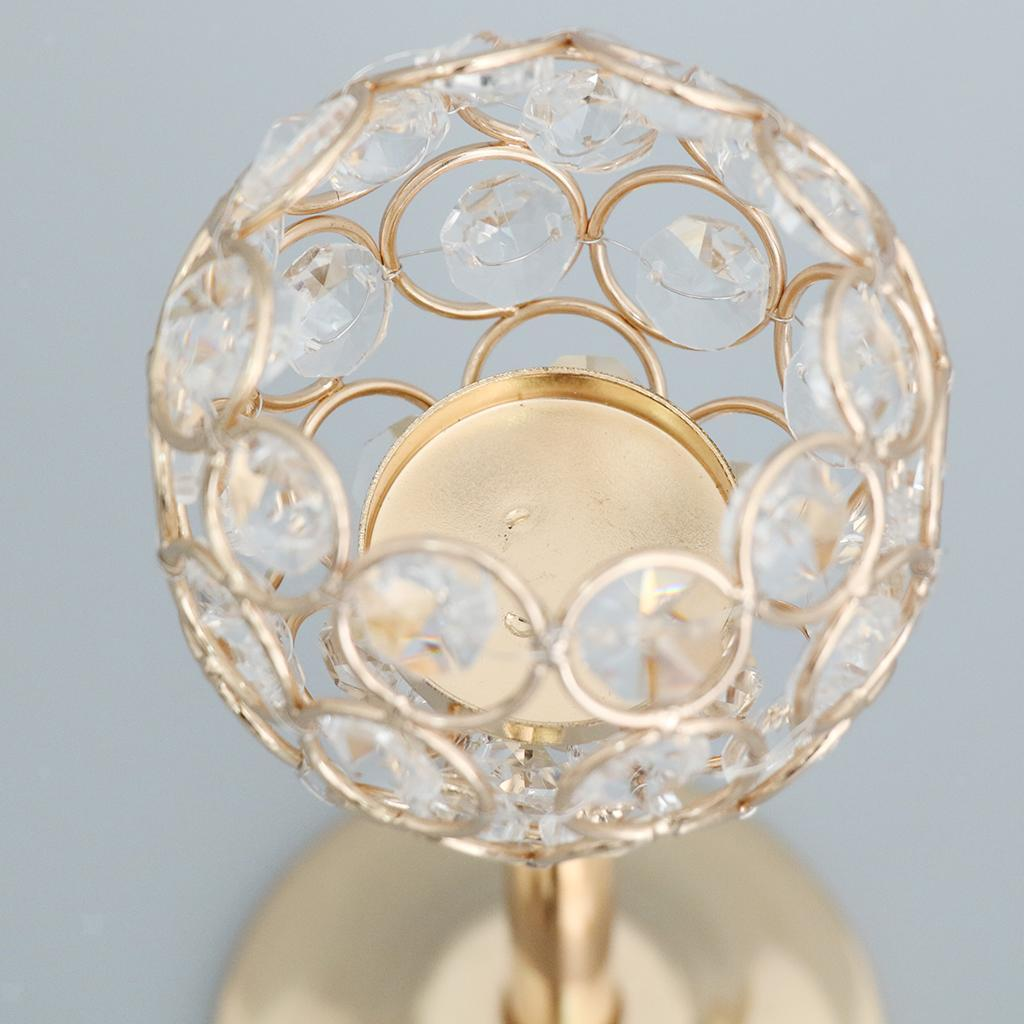 CRYSTAL-TABLE-STAND-CANDLE-HOLDER-CANDLESTICK-WEDDING-HOLIDAYS-CHRISTMAS-EVENTS thumbnail 56