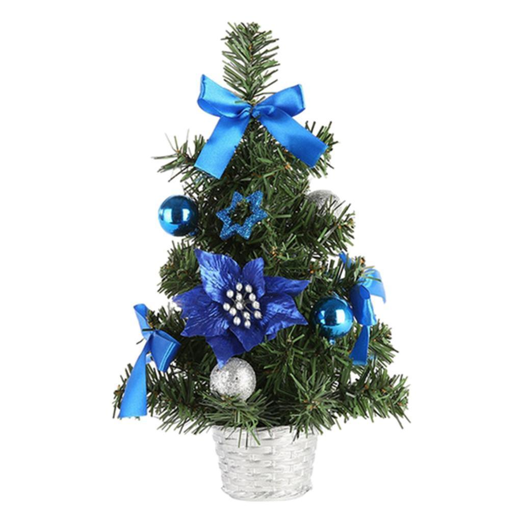 Small Artificial Christmas Tree with Ornaments Holiday ...