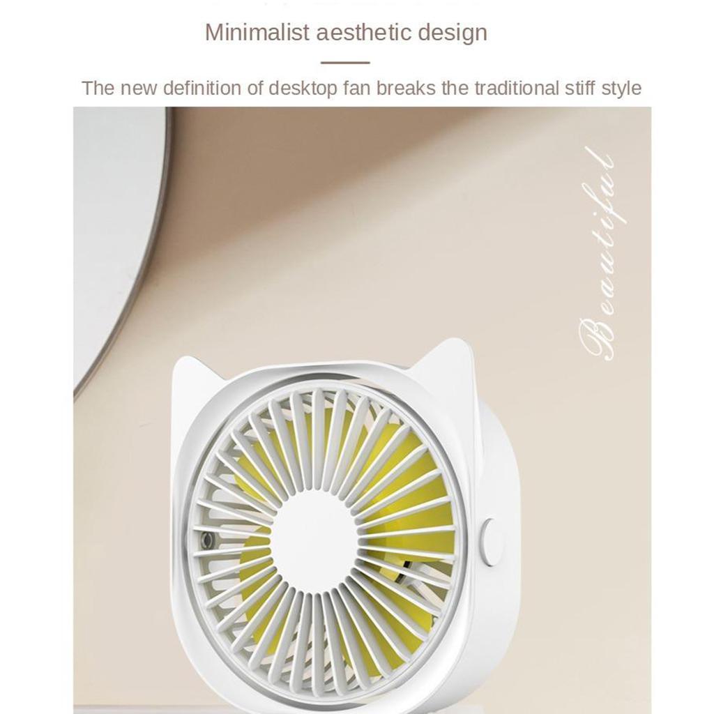 Mini-Ventilateur-electrique-Portatif-Silencieux-De-Rotation-De-360-Degres-De miniature 10