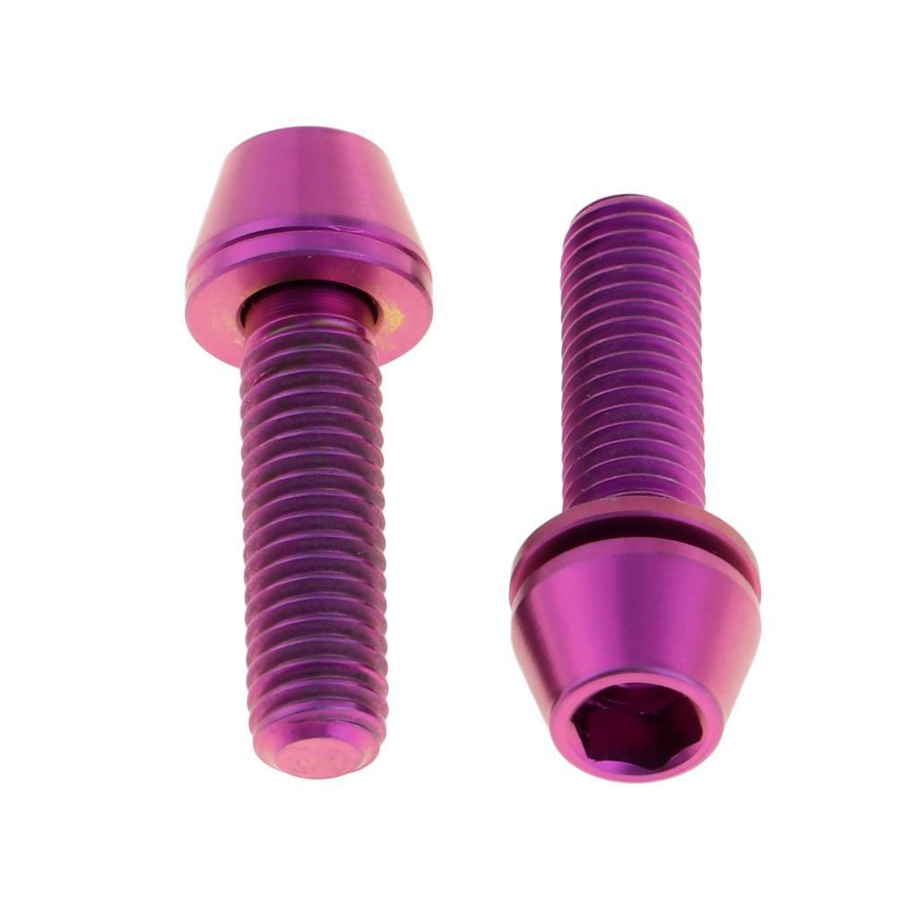 Pack-2-Vis-a-Tete-Conique-En-Alliage-Titane-En-Alliage-Titane-M5x16-18 miniature 3