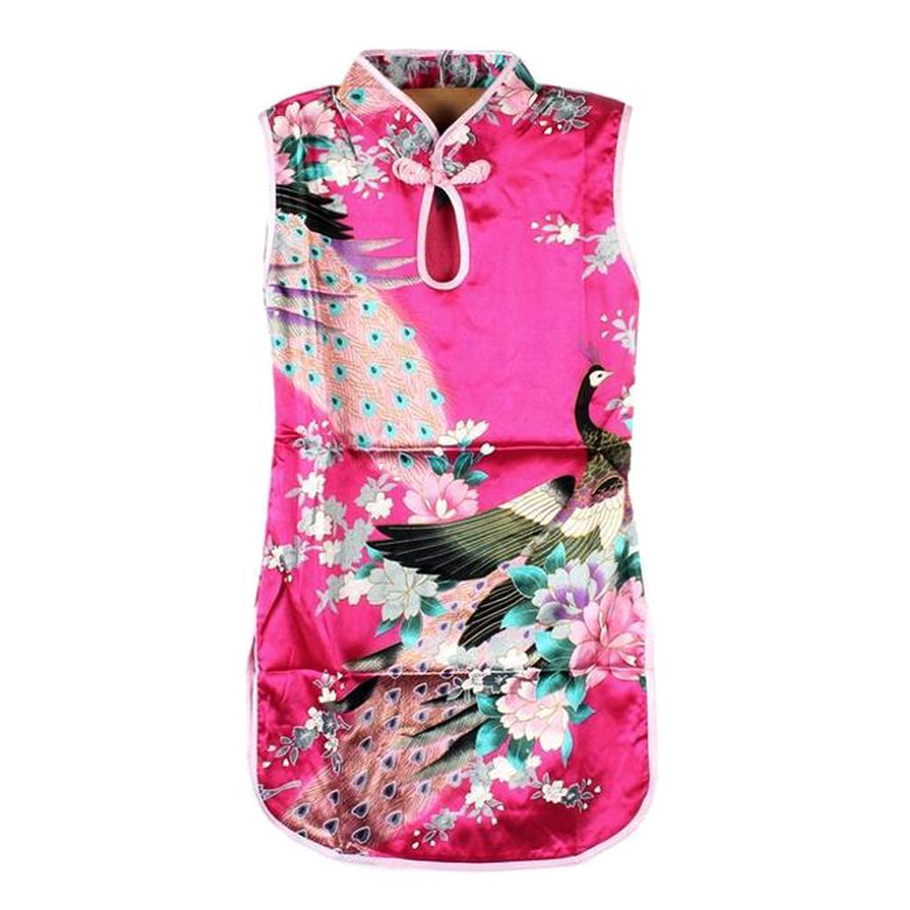 Kinder Mädchen Qipao Cheongsam Geisha-Kostüm Kleid China ...
