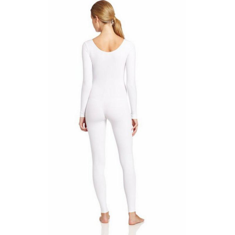 Scoop-Neck-Full-Body-Dance-Unitard-Bodysuit-Costume-Long-Sleeve-Unitard-Womens thumbnail 4