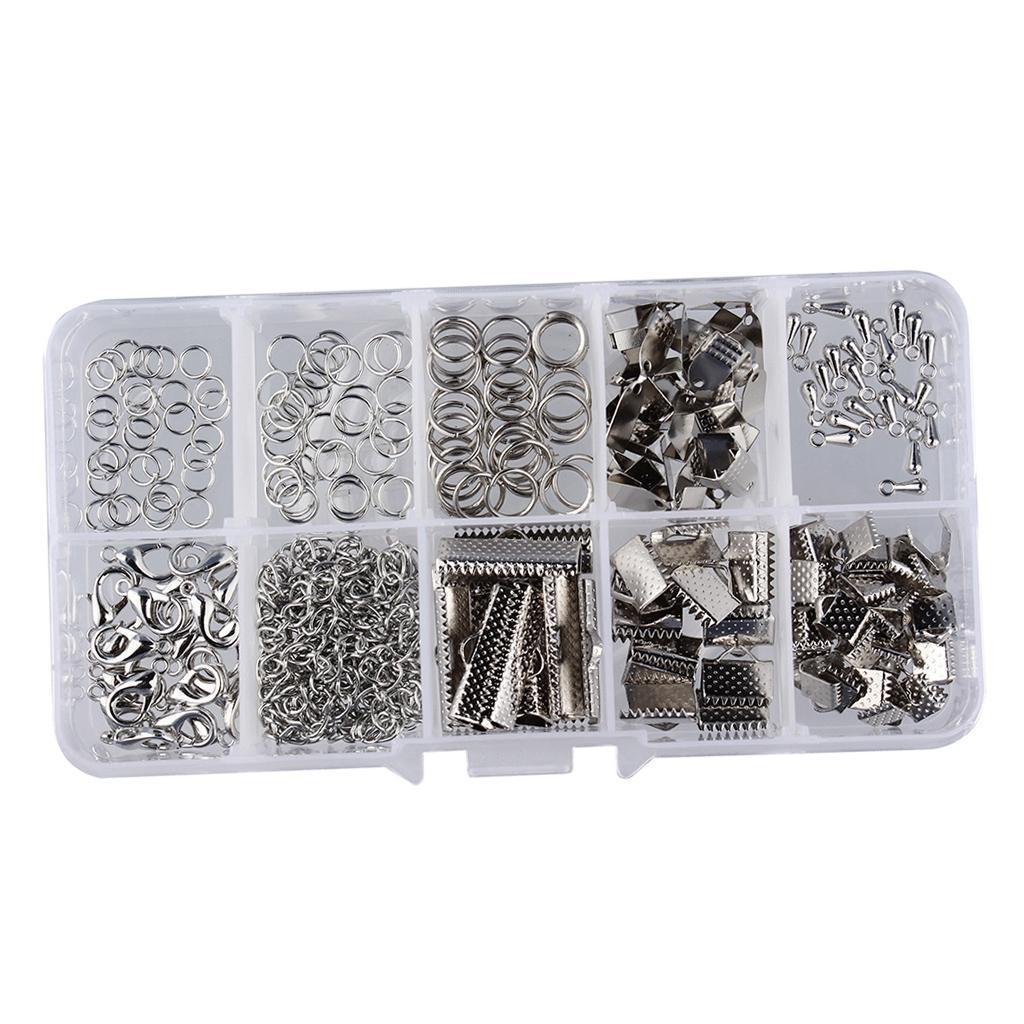Schmuckherstellung-Set-Starter-Kit-Metall-Verschluss-Kettenverschluss-Karabiner Indexbild 10