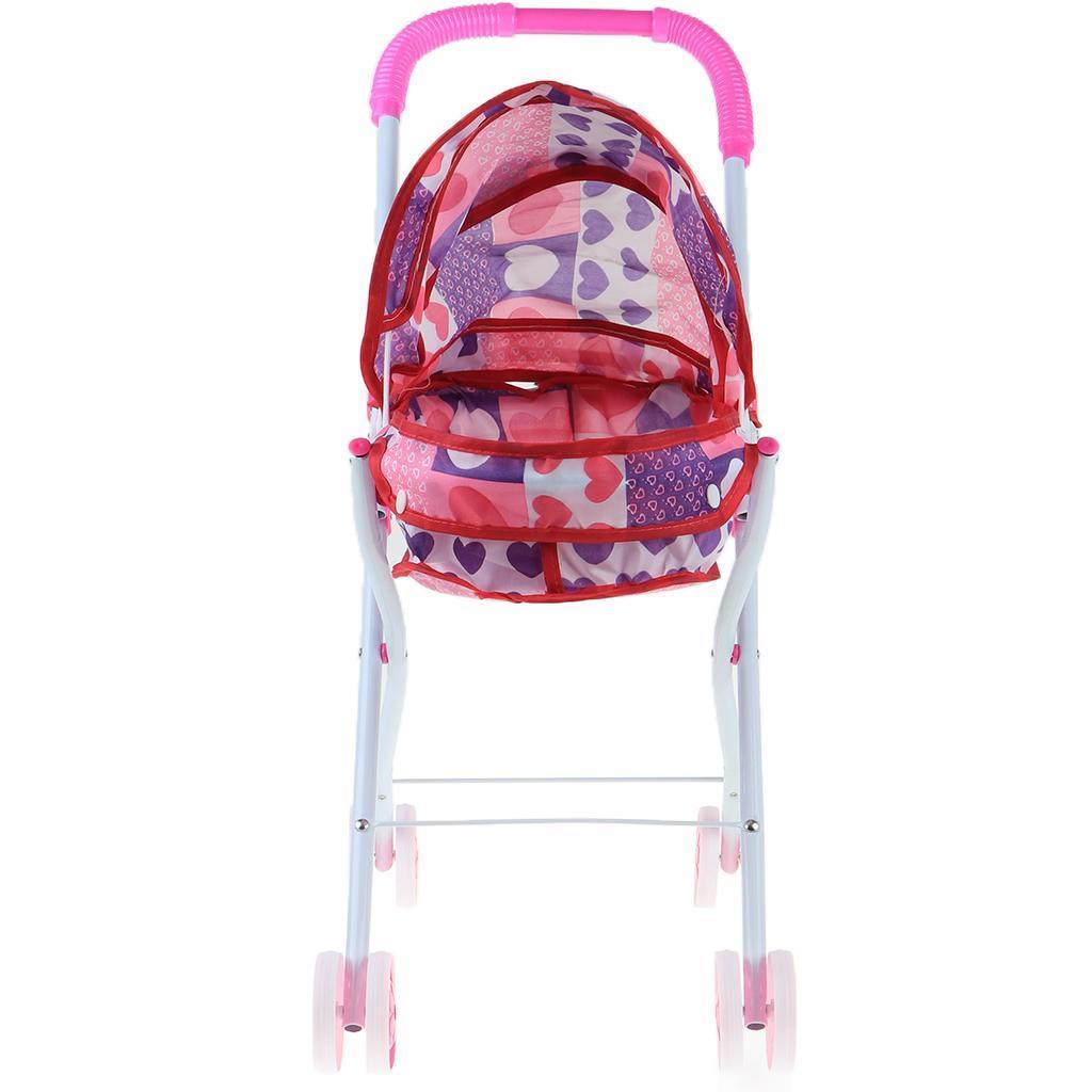 Foldable-Simulation-Pushchair-Stroller-Buggy-Pram-Pretend-Parent-Kids-Role-Play miniature 3