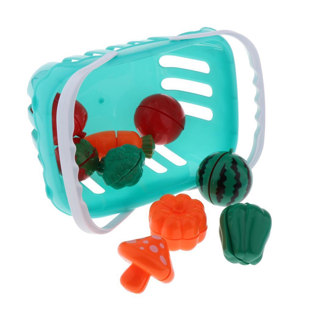 Kitchen-Cutting-Food-Set-Cooking-Toys-with-Cake-Fruit-Pizza-Storage-Basket thumbnail 7