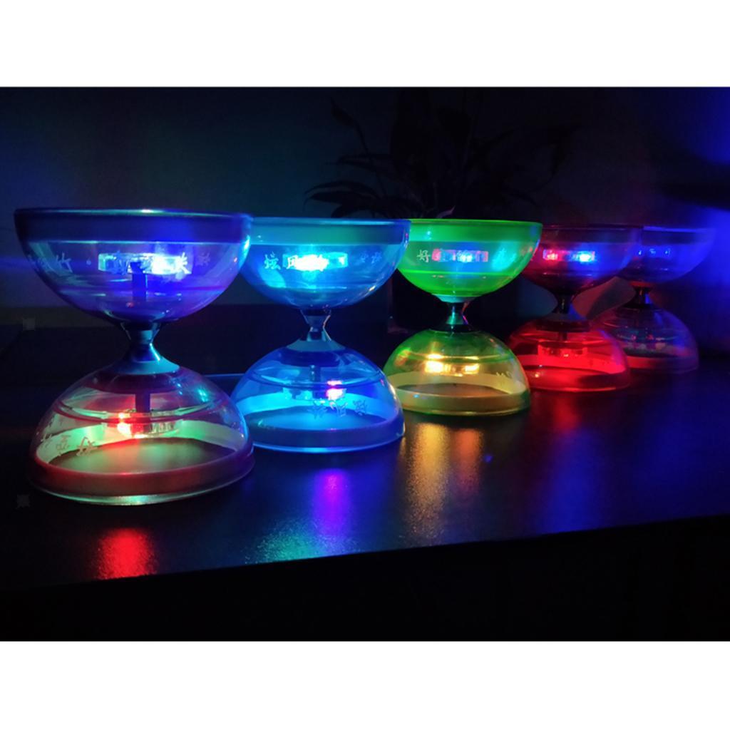 Giocattoli-Da-Giocoliere-Con-Triplo-Cuscinetto-A-Diabolo-con-luce-LED miniatura 7