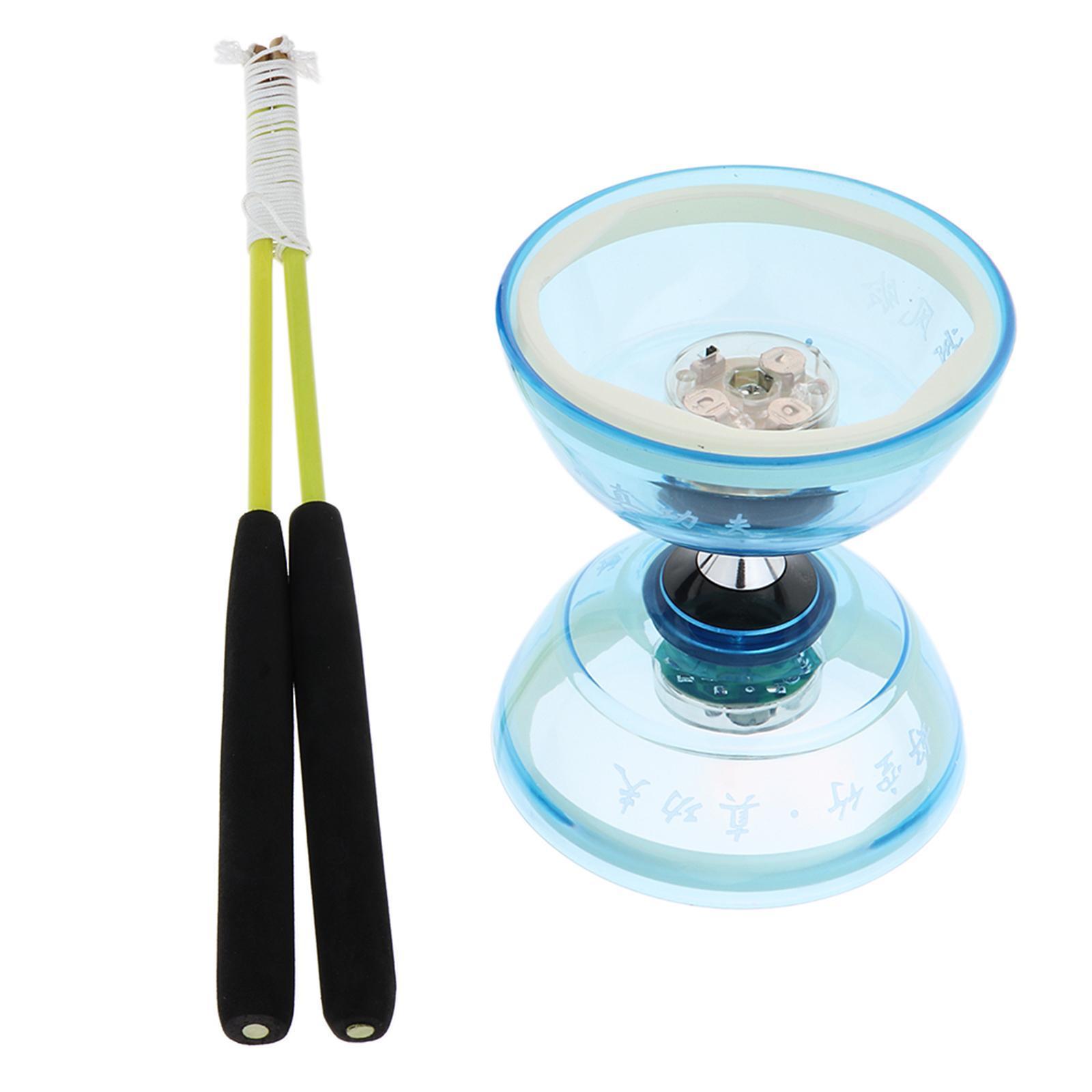 Giocattoli-Da-Giocoliere-Con-Triplo-Cuscinetto-A-Diabolo-con-luce-LED miniatura 6