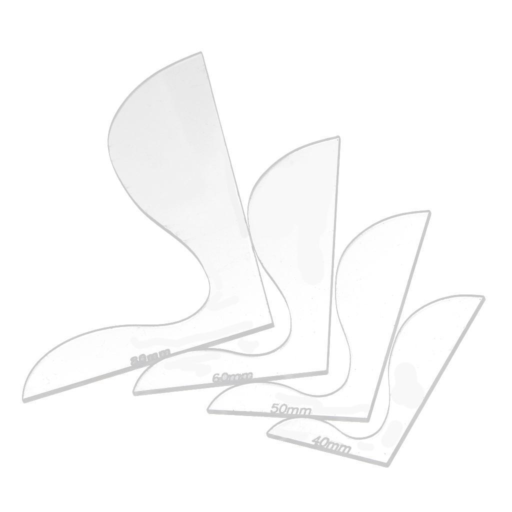 4 Specs Leather Tool Wallet Acrylic Pattern Board