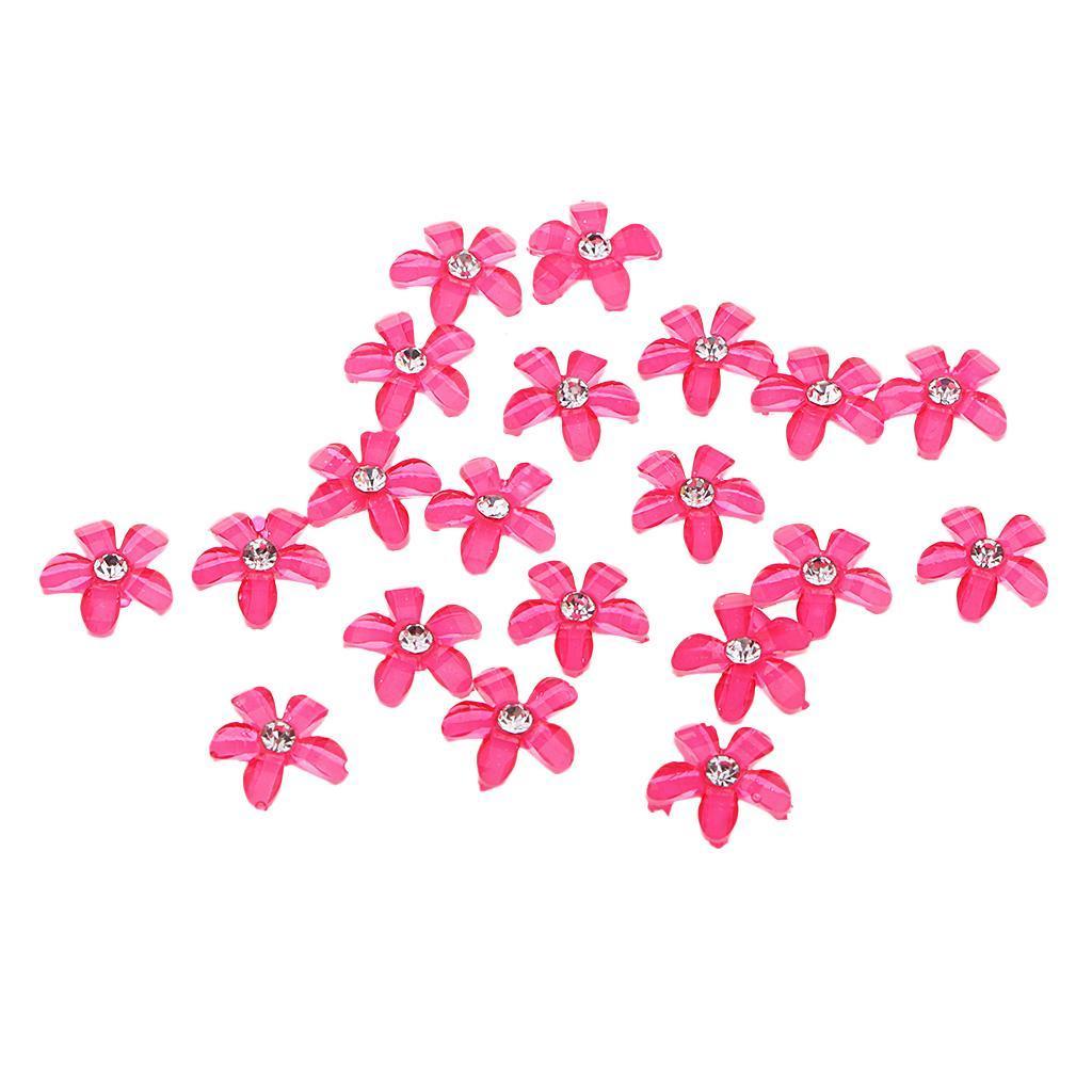 20-pcs-Blumen-Flatback-Perle-Strass-Flatback-Button-Kristall-Verzierung-Handwerk Indexbild 10