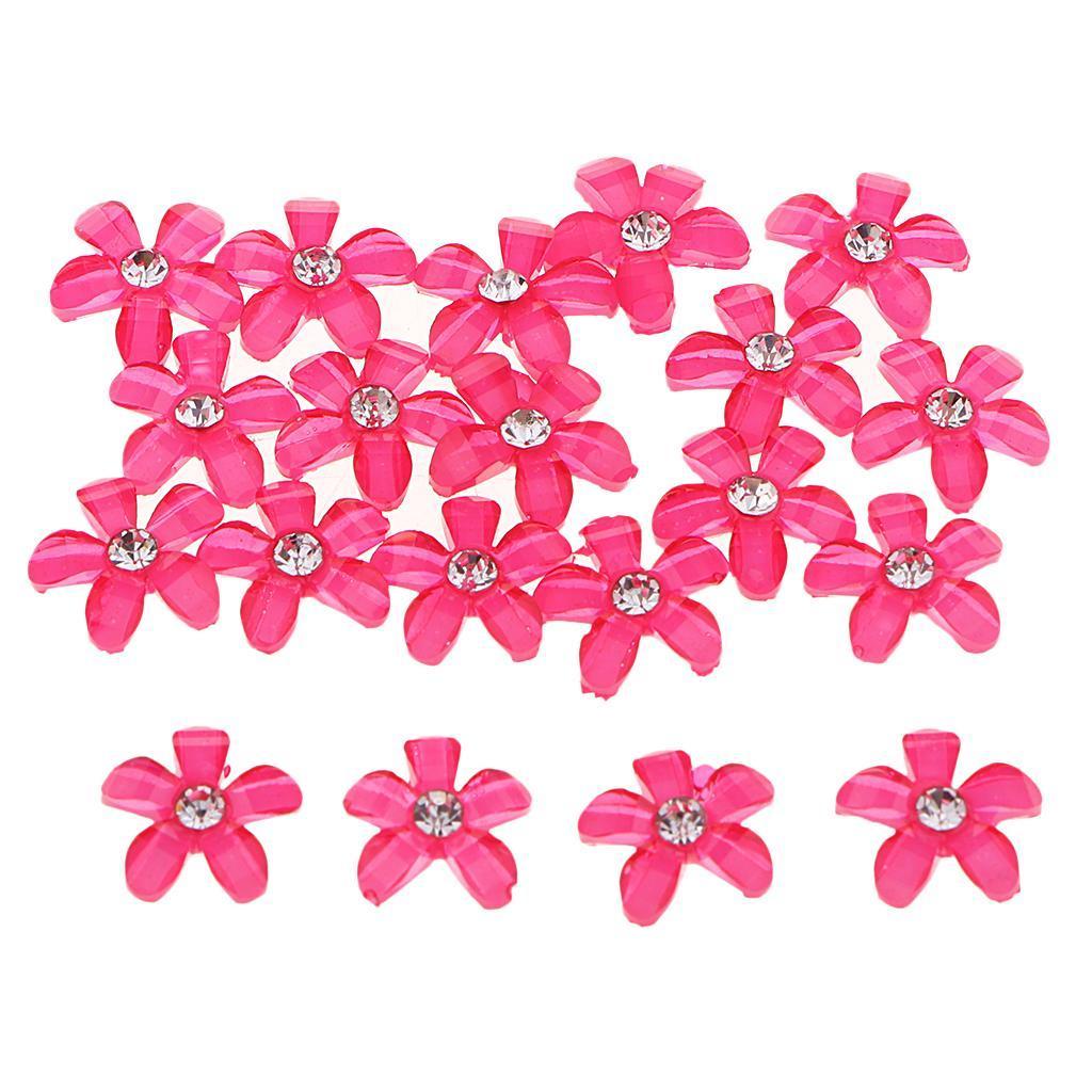 20-pcs-Blumen-Flatback-Perle-Strass-Flatback-Button-Kristall-Verzierung-Handwerk Indexbild 9