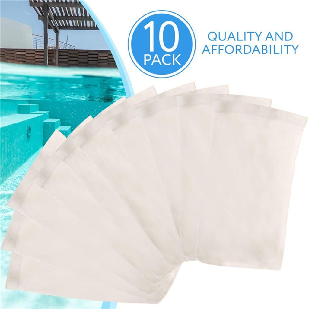 10/20/30pcs Pool Skimmer Socks Durable Elastic Nylon Fabric Filters for Swimming