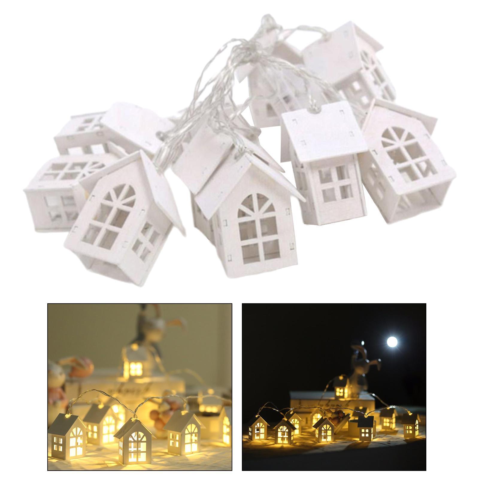 miniature 11 - 10 LED Rideau Guirlandes 6.6ft Fée Lumière de Corde De Noël Toile de Fond Dé