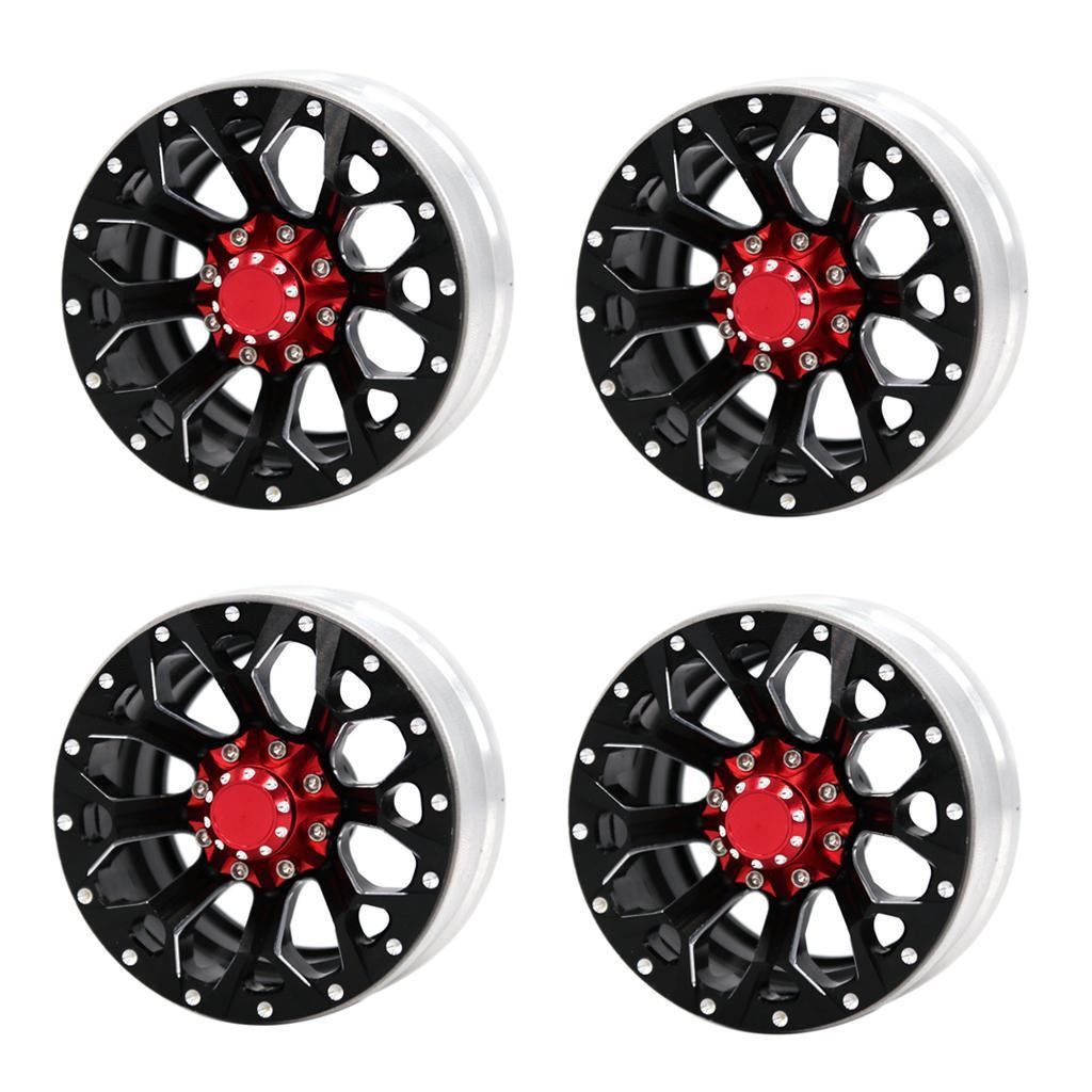 1-9inch-Beadlock-Wheel-Rims-Heavy-Duty-CNC-Aluminum-4pcs-Set-for-1-10-RC-Crawler thumbnail 7