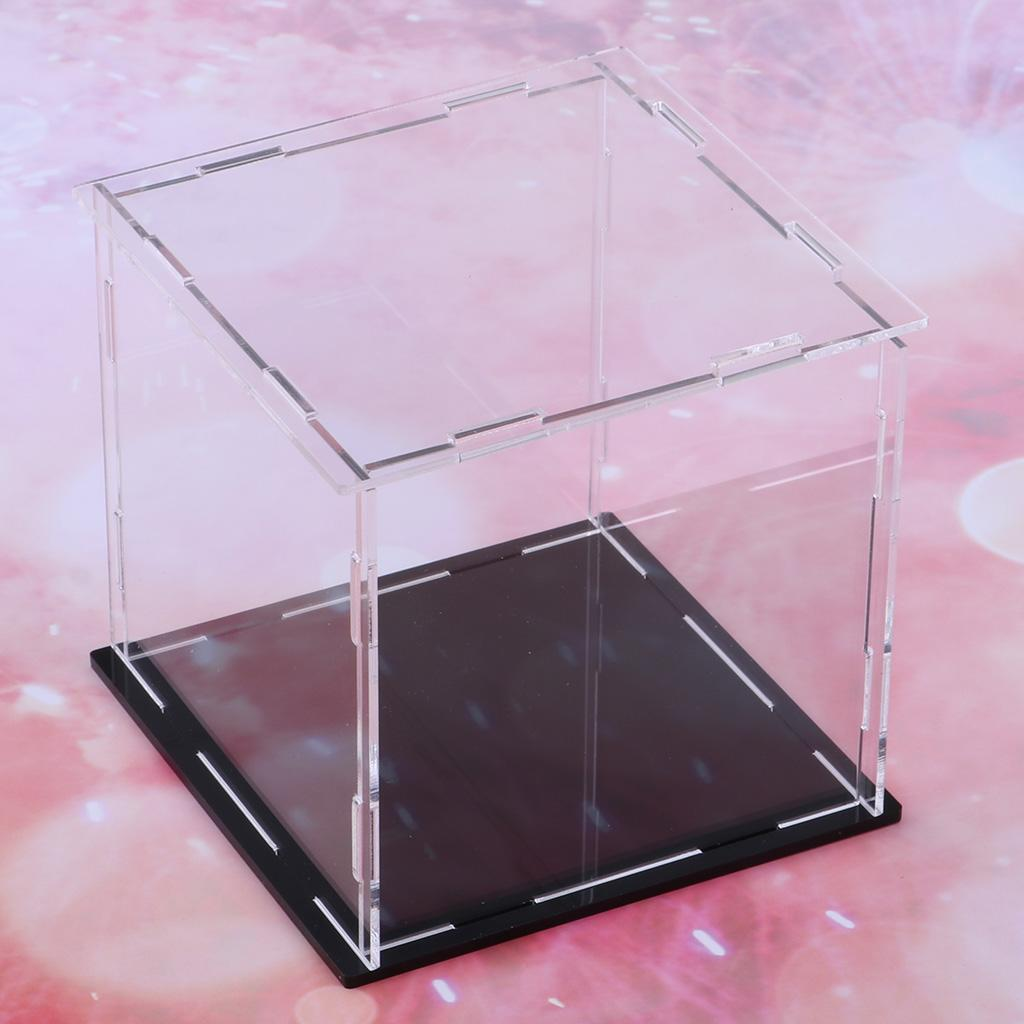 Transparent Acrylic Display Case Dustproof DIY Assembled Model Show Box