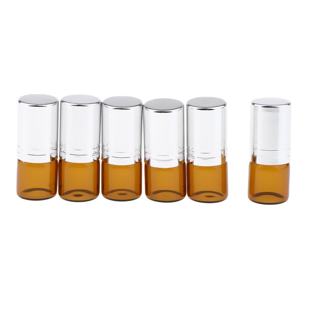 6-Stueck-Glas-Miniflaschen-Roller-Flaschen-Glasflaschen-Perfumflaschen-Set Indexbild 4