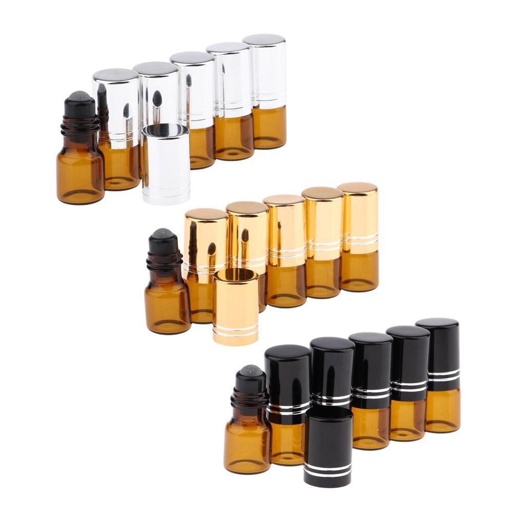 6-Stueck-Glas-Miniflaschen-Roller-Flaschen-Glasflaschen-Perfumflaschen-Set Indexbild 3