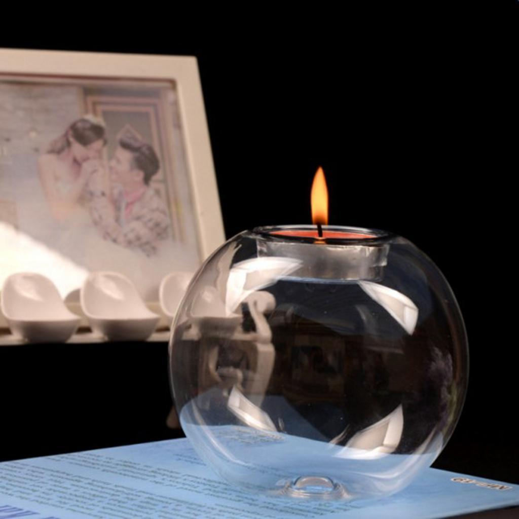 Thermal-Glass-Ball-Tea-Light-Candle-Holder-for-Holiday-Wedding-Tabletop-Decor thumbnail 3