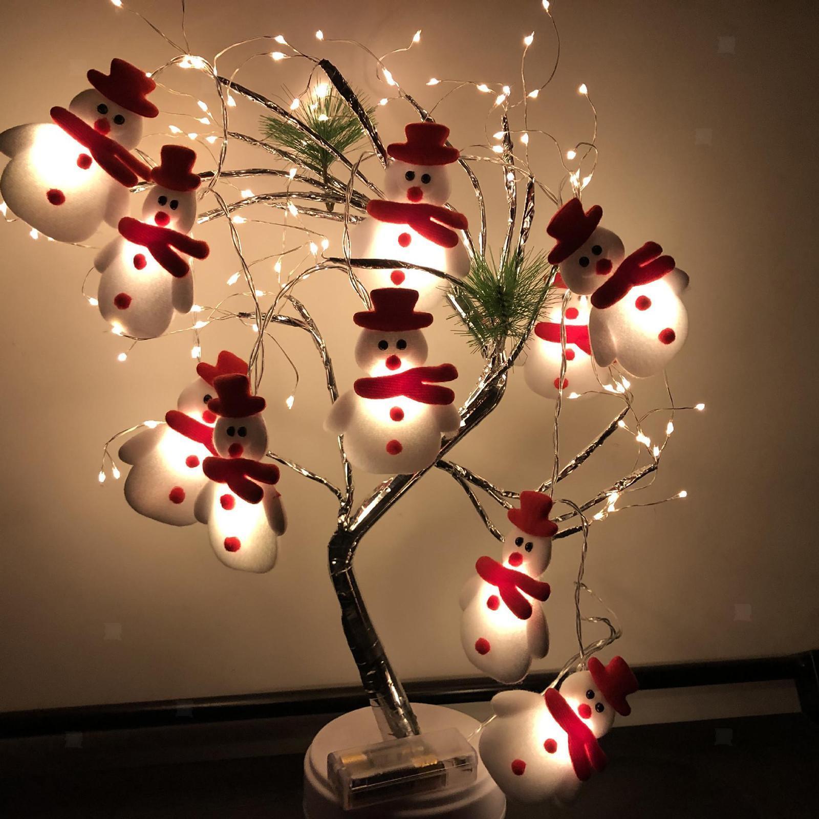 miniature 6 - LED Cordes Guirlandes De Noël Bonhomme De Neige Lumières Décors pour Salon En