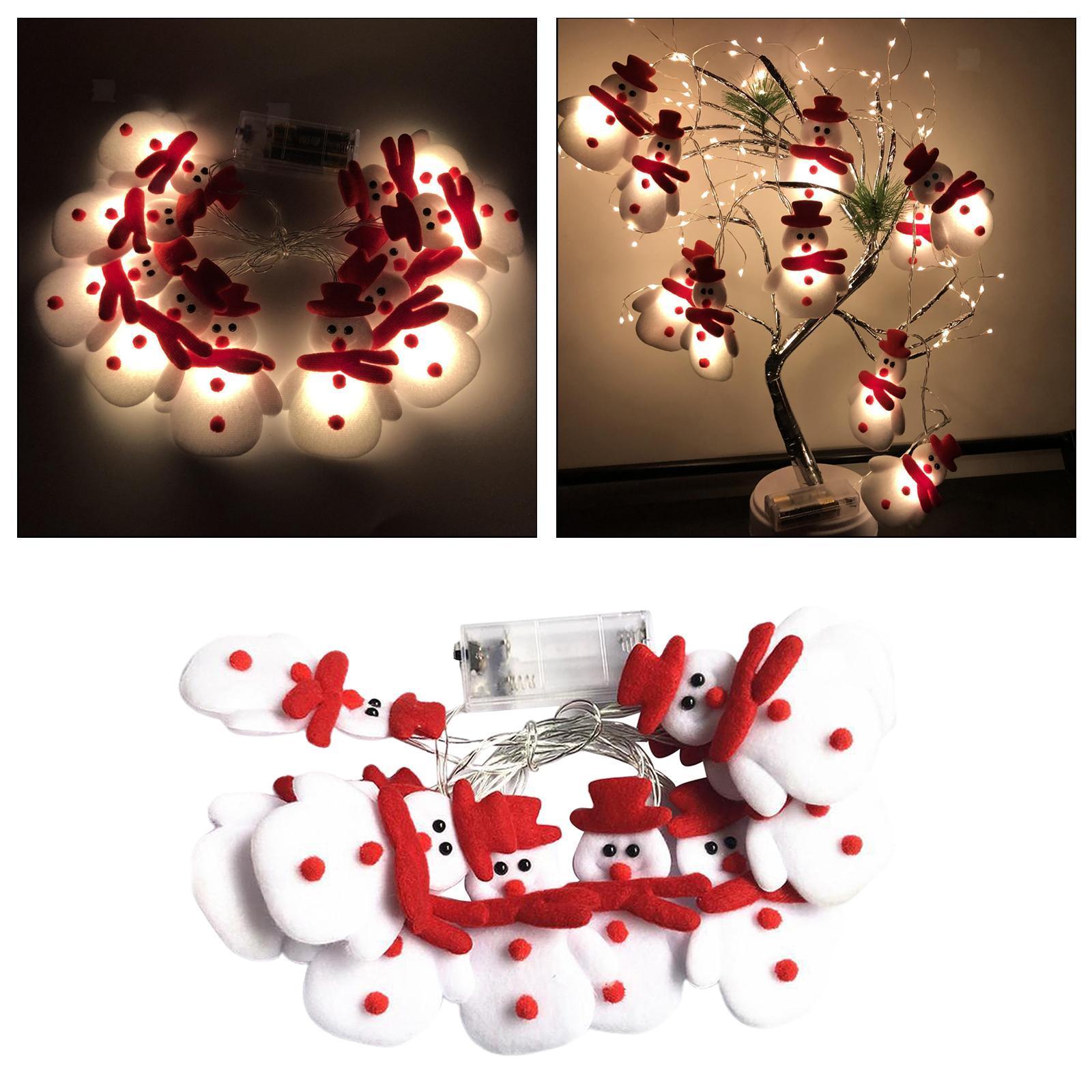 miniature 4 - LED Cordes Guirlandes De Noël Bonhomme De Neige Lumières Décors pour Salon En