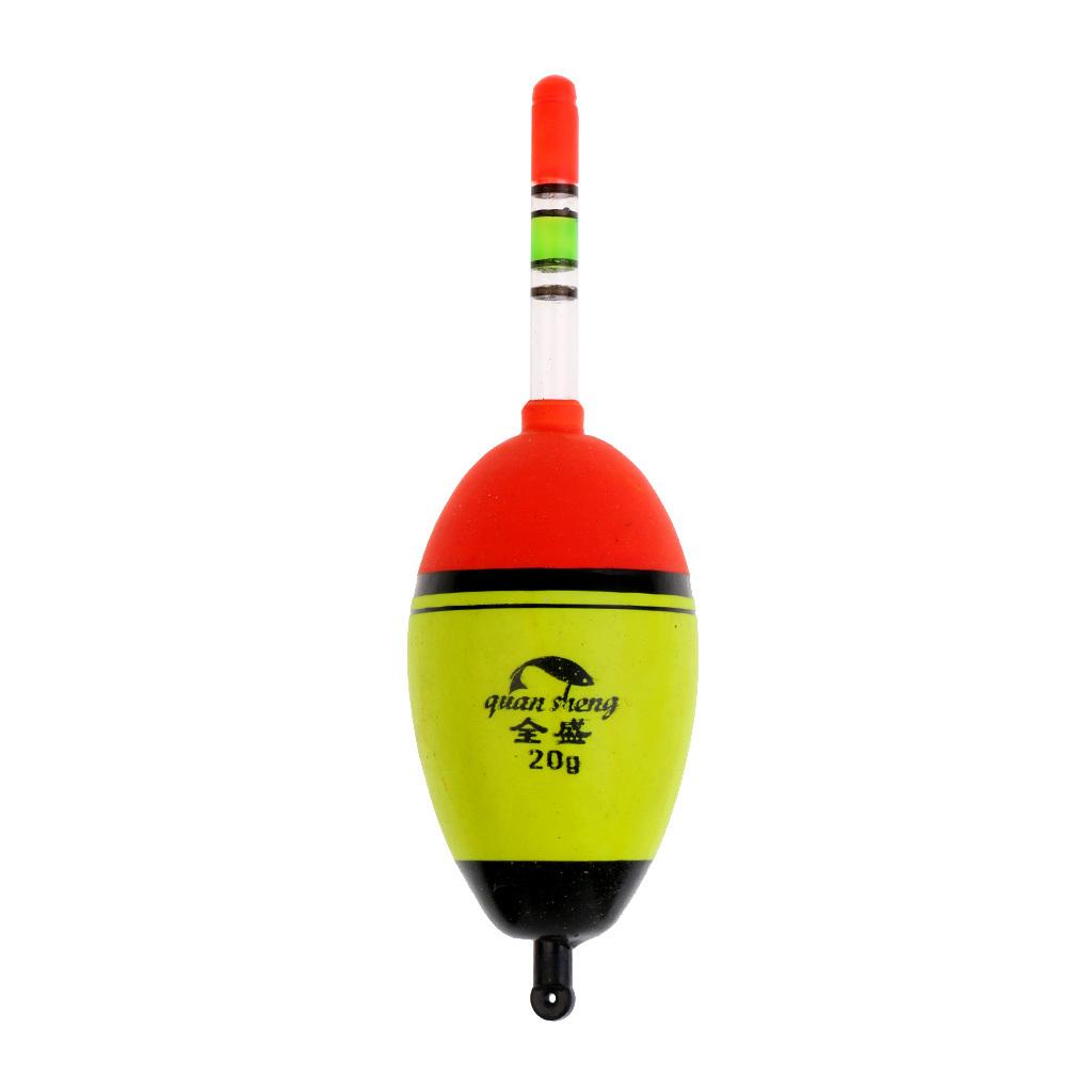 HK 3Pcs Luminous Buoy EVA Fishing Float Glowing LED Floats Fishing Bobber Exqui
