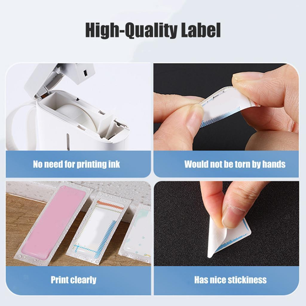 miniatura 7 - 2x etichette adesive per etichette per stampante termica Niimbot D11 Pure Color