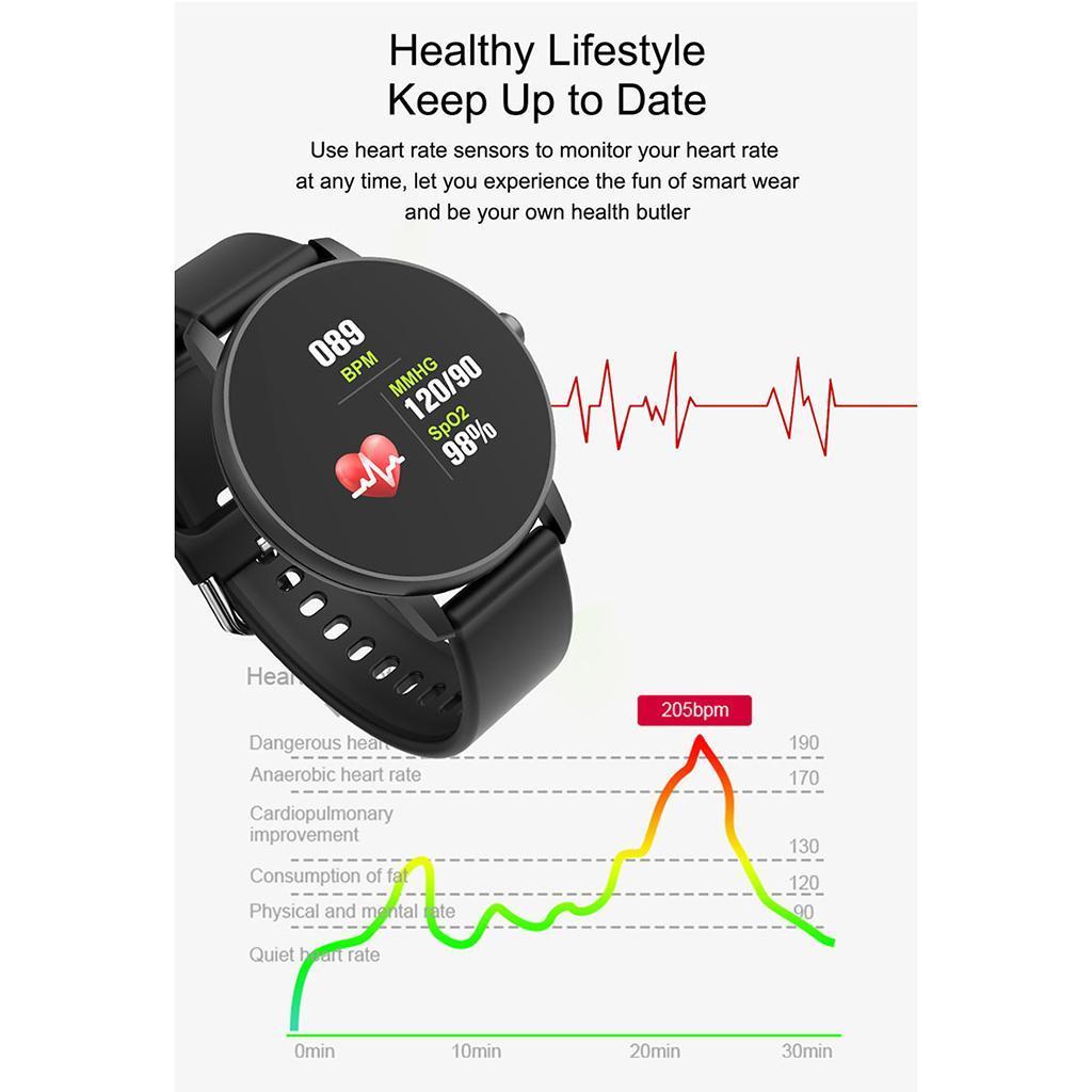 Indexbild 10 - Smart Watch Wasserdichte Herzfrequenz Schlafmonitor Sport Armbanduhr SMS