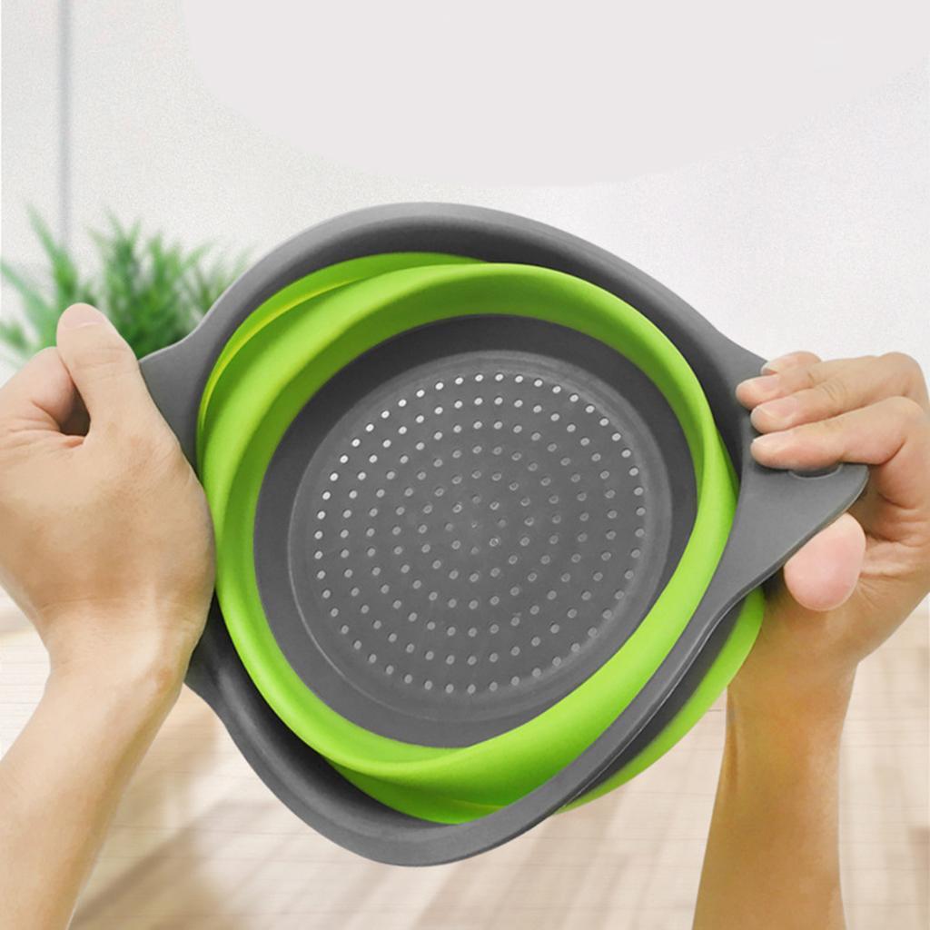 miniatura 15 - Utensili da cucina per la casa, scolapasta / colino / cestello pieghevole in