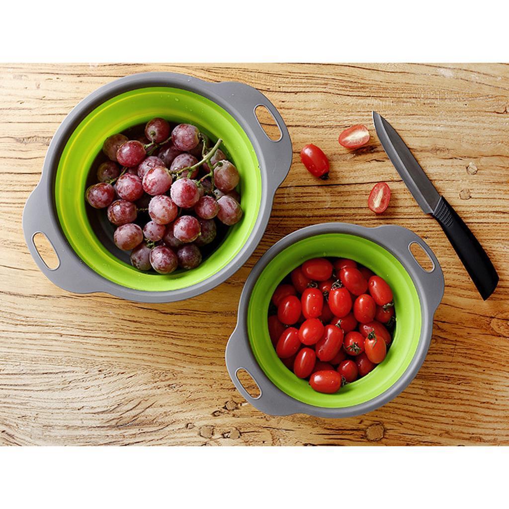 miniatura 16 - Utensili da cucina per la casa, scolapasta / colino / cestello pieghevole in