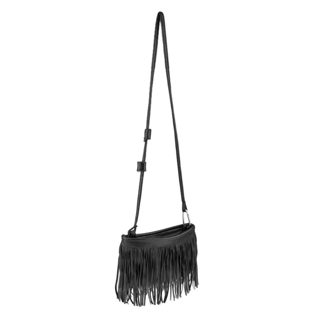 Elegant-Tassel-Ladies-PU-Leather-Bag-Handbag-Purse-Shoulder-Bag-Tassel-Tote thumbnail 3