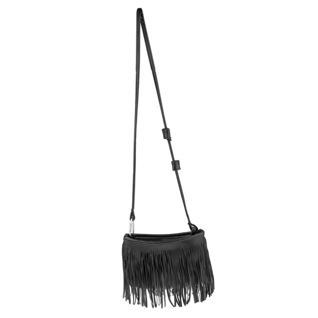 Elegant-Tassel-Ladies-PU-Leather-Bag-Handbag-Purse-Shoulder-Bag-Tassel-Tote thumbnail 4