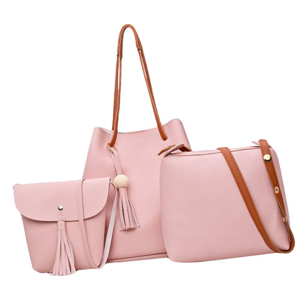 4Damen-Handtasche-mit-Perlenanhaenger-Elegant-Taschen-Shopper-Schultertasche Indexbild 19