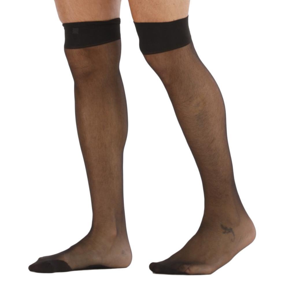 2x-Sissy-Sexy-Black-Mesh-Socks-Chaussettes-Collants-Bas-Collants-Elastiques miniature 4