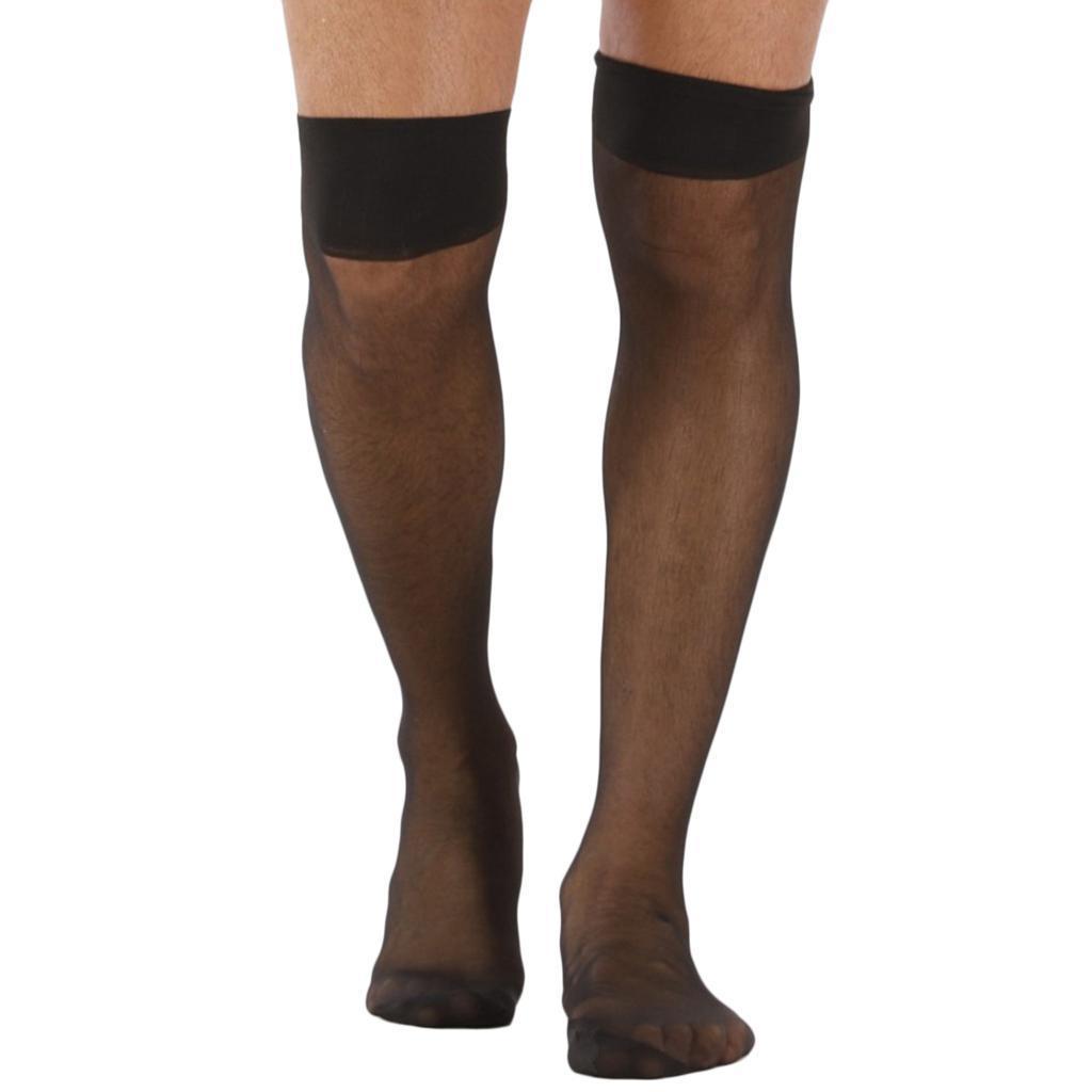 Prettyia-2pcs-mens-mesh-chaussettes-transparentes-collants-resille-bas miniature 4