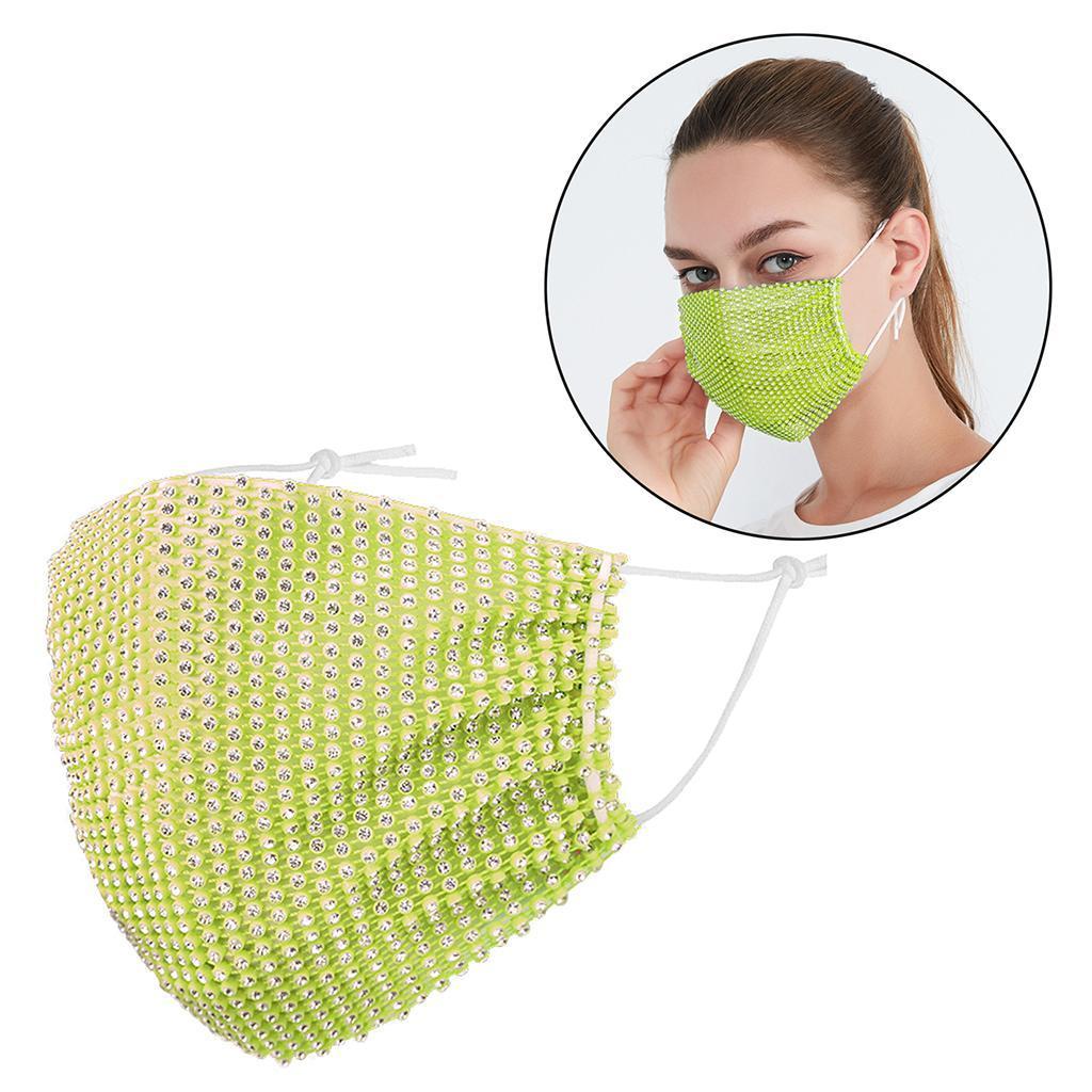 miniatura 10 - 2 pezzi maschera a rete con strass scintillanti maschere per il viso in maschera