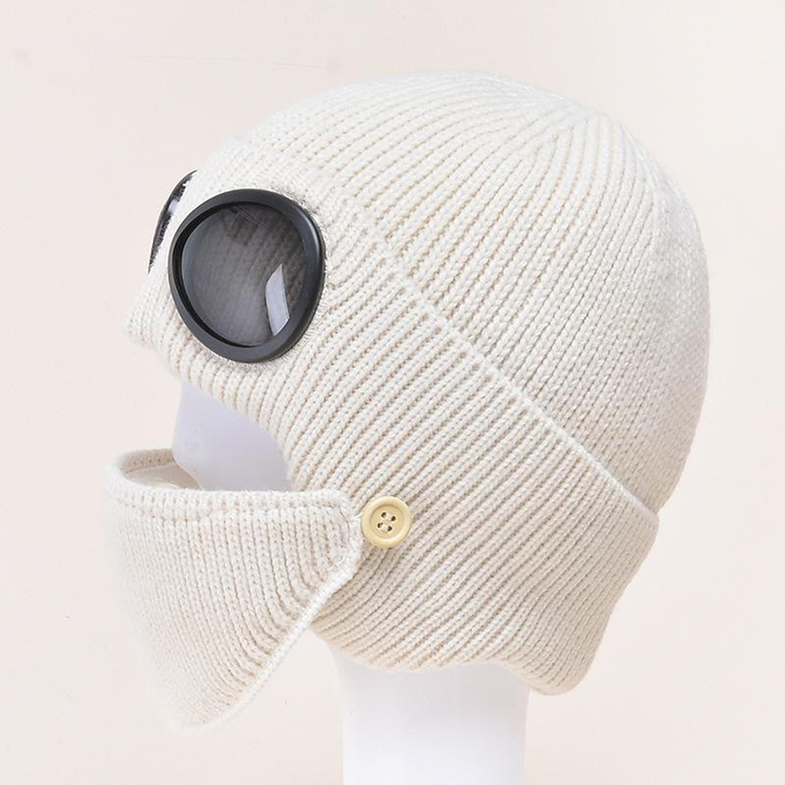 miniature 39 - Masque de tête de visage hiver bonnet chaud avec lunettes casquette d'oreille