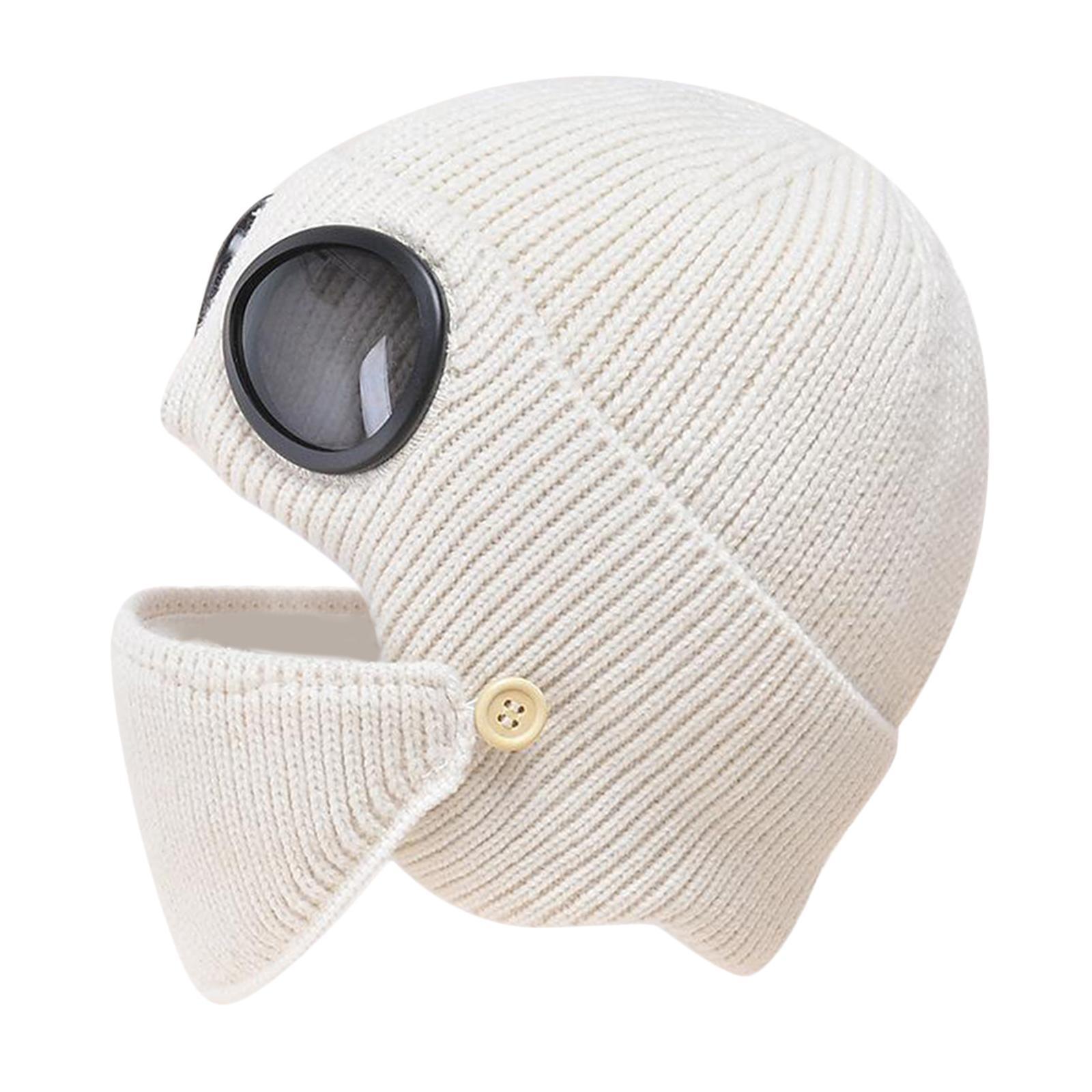 miniature 36 - Masque de tête de visage hiver bonnet chaud avec lunettes casquette d'oreille