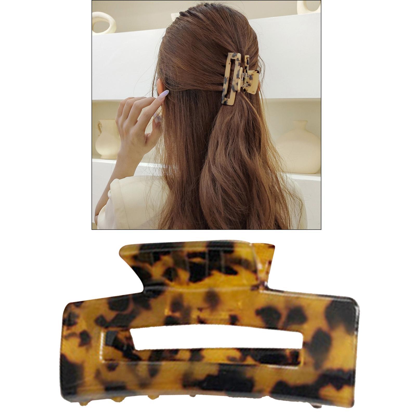 thumbnail 24 - Large Hair Clip Claws Rectangle Hair Jaw Hairpins Grip for Women Thick Hair
