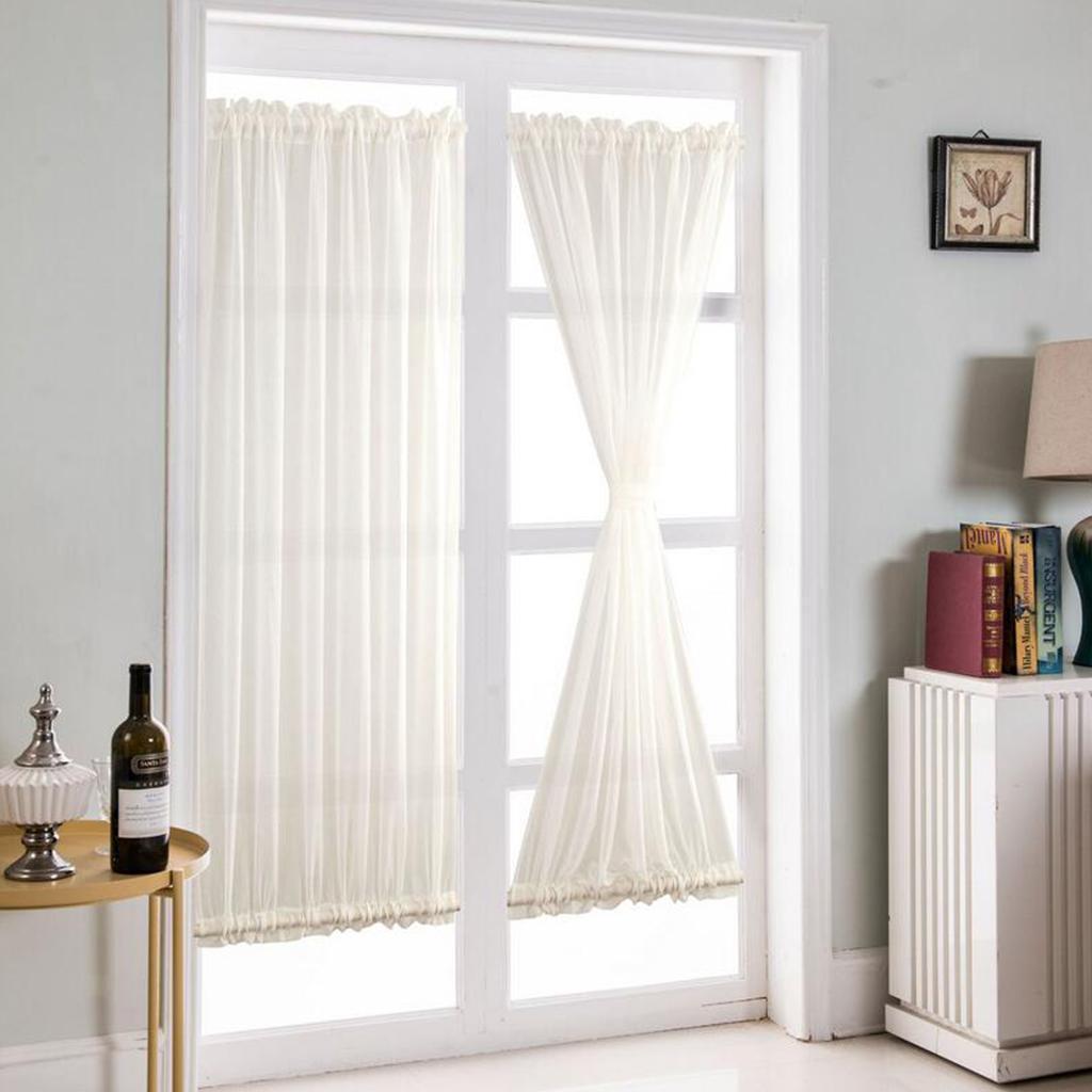 Semi Sheer French Door Curtains Patio Door Curtain Panel W