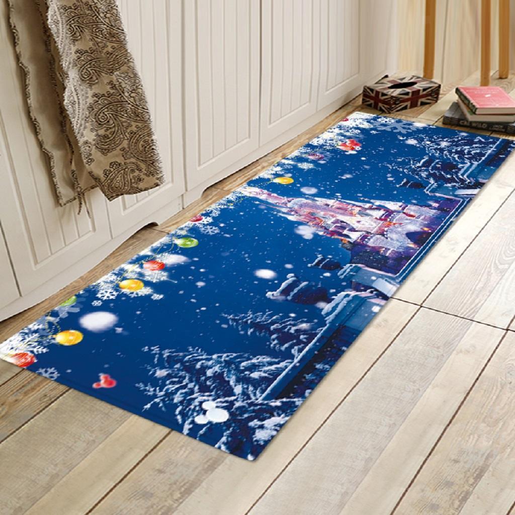 Christmas Decorative Floor Runner Area Rug Living Room Carpet 120x40cm