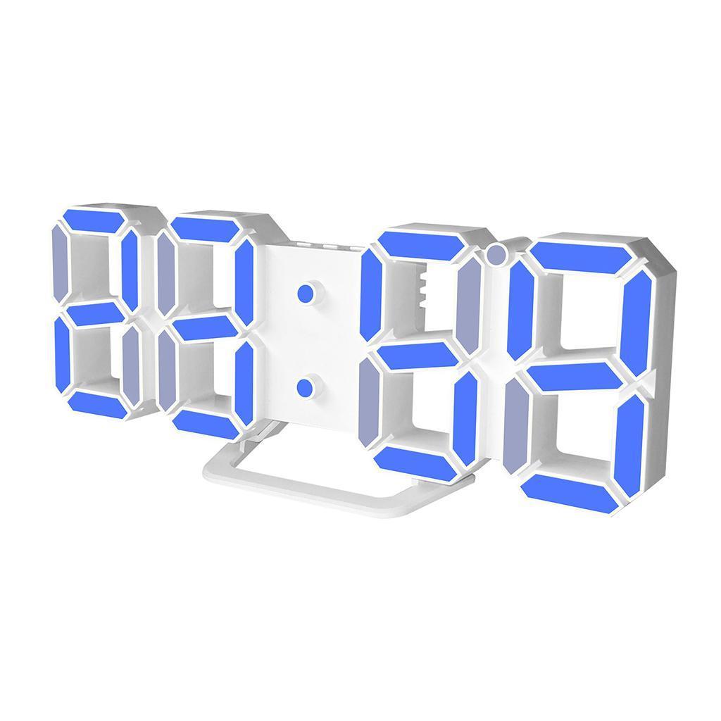 Moderno-Orologio-Da-Parete-A-LED-3D-Digitale-Snooze-USB-12-24-Ore miniatura 4