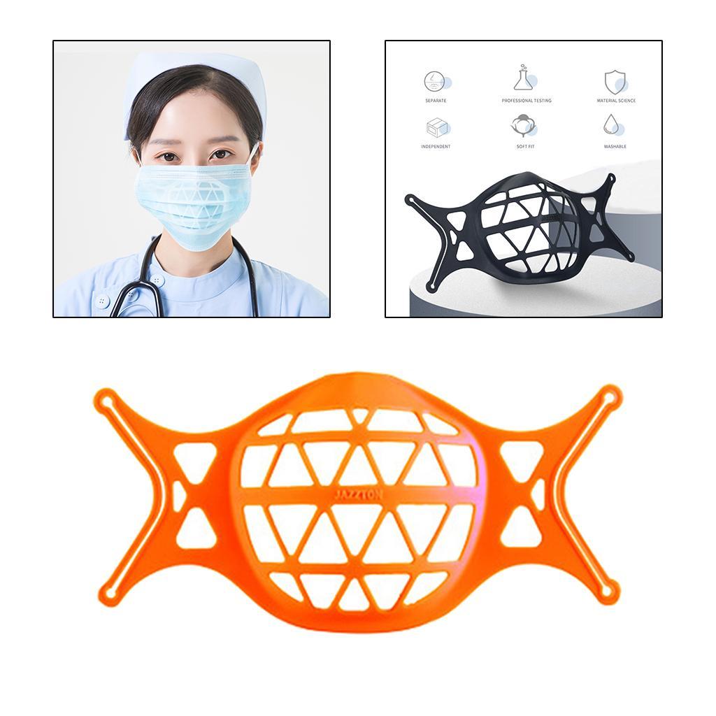3D Mask Bracket Inner Support Frame Protect Lipstick More Space Orange
