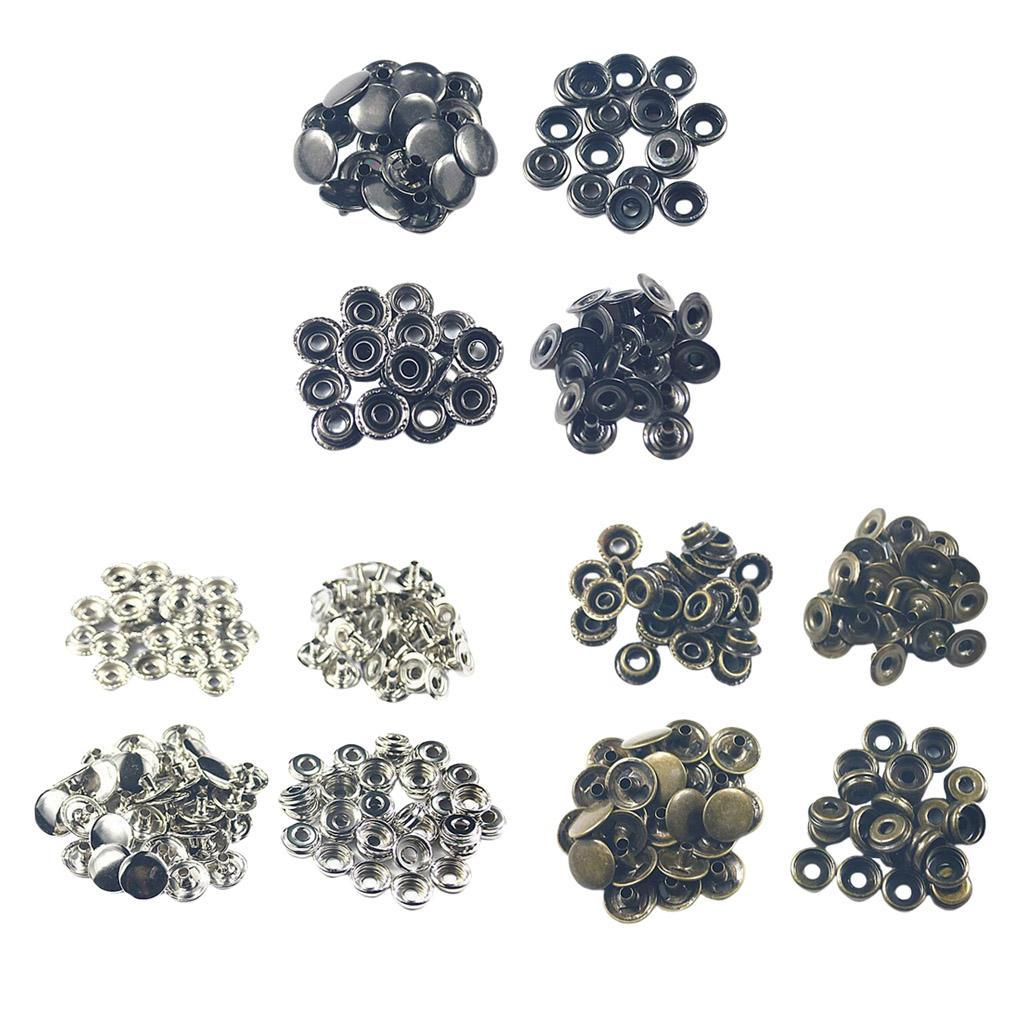 50Pack-Snap-Fasteners-Press-Stud-Button-Leather-Down-Bag-Clouses-Fixing thumbnail 11