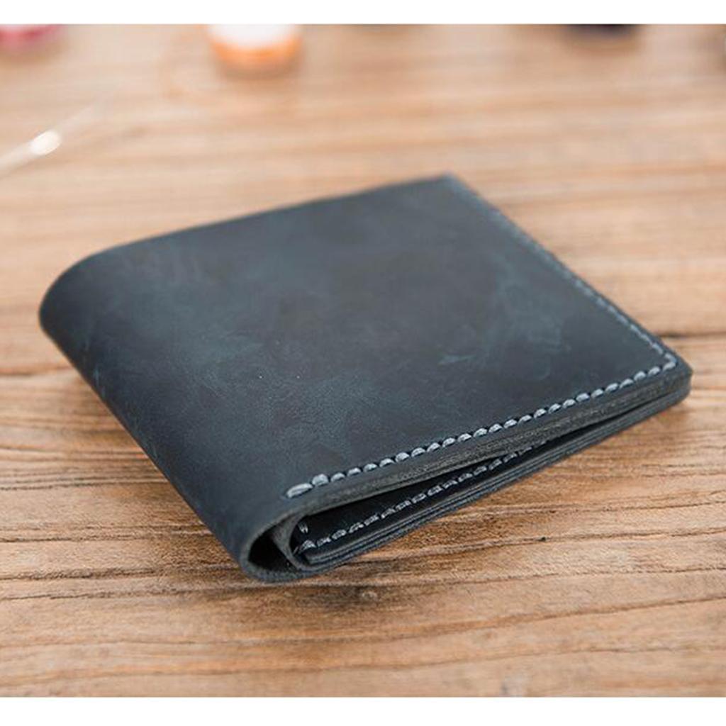 Lederverarbeitung-DIY-Vintage-Stil-Geldboerse-Portemonnaie-Muster-und-Material Indexbild 3