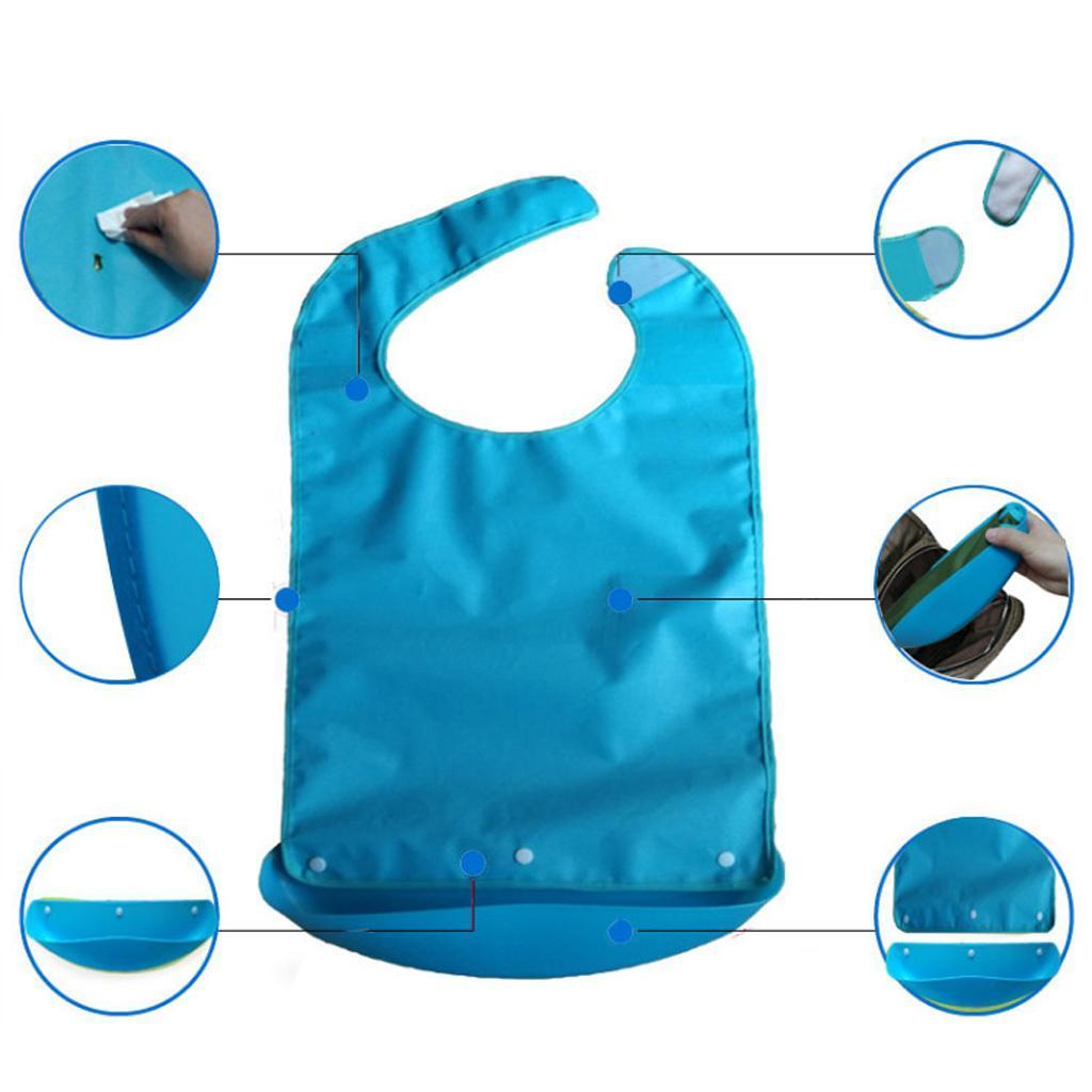 Bavaglini-Anti-Olio-Convalescenti-Protezione-Per-Adulti-Vestiti-Accessori miniatura 3
