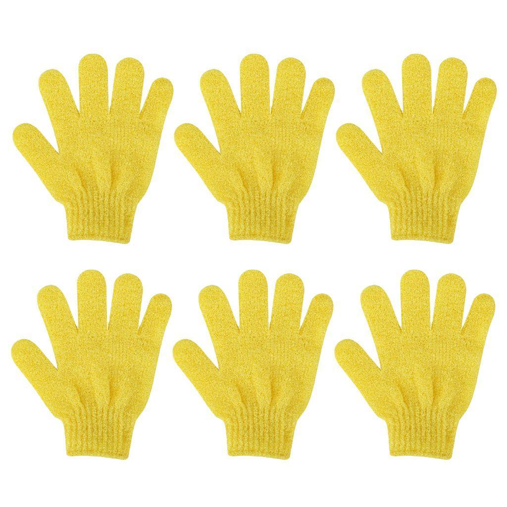 miniatura 8 - 3 Paia Di Guanti Esfolianti Per Il Corpo Body Spa Glove Dry Skin Brush Scrubber