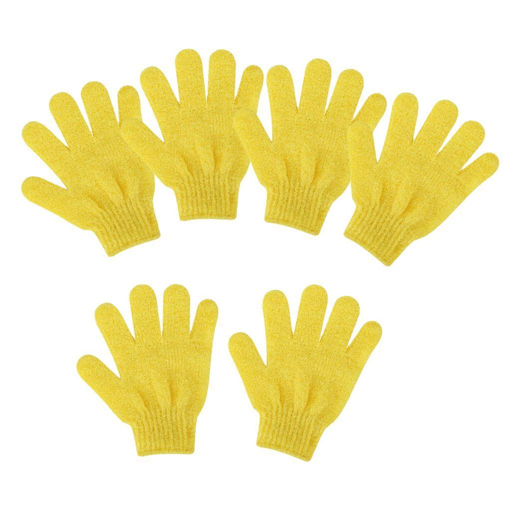 miniatura 7 - 3 Paia Di Guanti Esfolianti Per Il Corpo Body Spa Glove Dry Skin Brush Scrubber