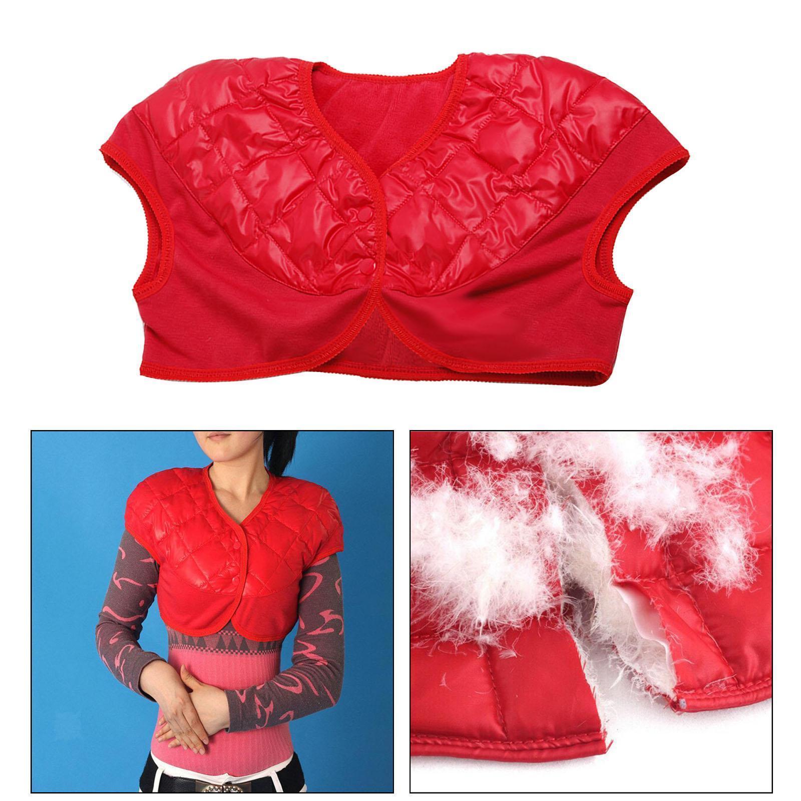Femmes-Hommes-Down-Jacket-Chaud-Manteau-Court-Epaule-Chaud-Thermique-Wrap miniatura 5