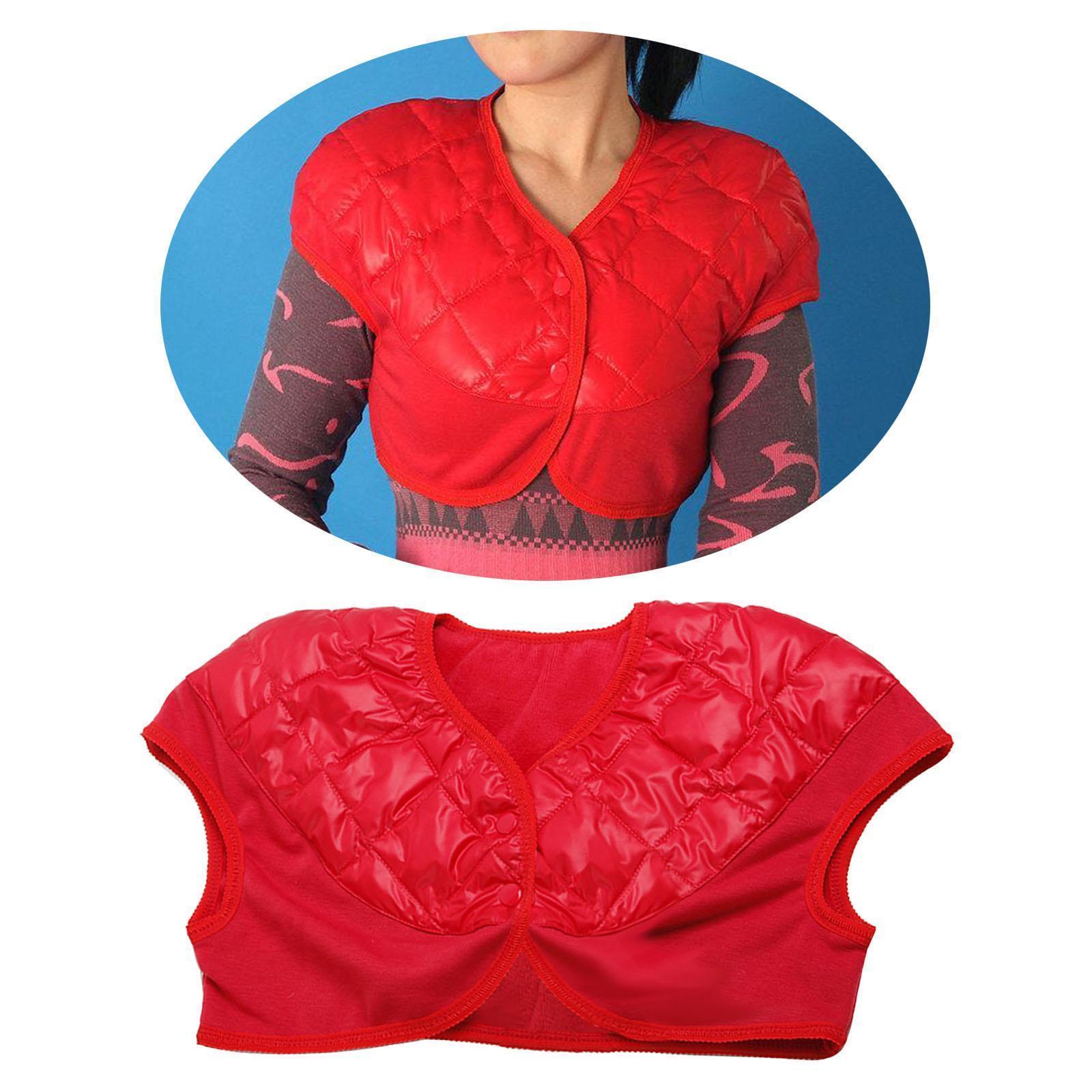 Femmes-Hommes-Down-Jacket-Chaud-Manteau-Court-Epaule-Chaud-Thermique-Wrap miniatura 9